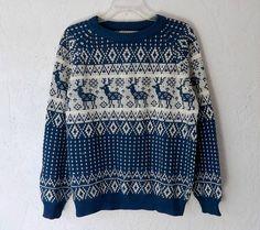 Vintage Sweater 70/80's Ski Lodge Novelty Ethnic by luvofvintage, $38.00