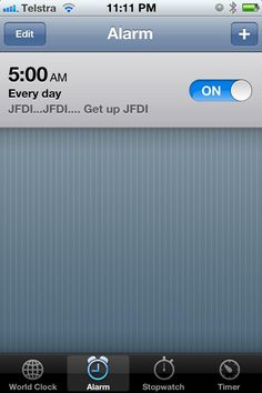 JFDI - Alarm Clock