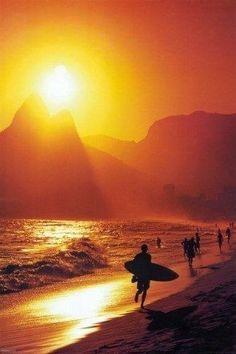 Beach at dusk- Rio de Janeiro