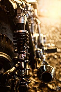 ♂ Brown motorcycle details