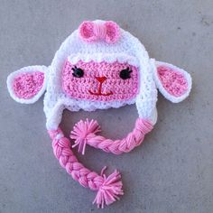 Lambie from Doc Mcstuffins crochet hat www.facebook.com/sassyhatdesigns