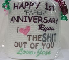 Personalized Embroidered 1st Anniversary by 3starmilitarymom