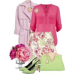 Spring Flowers by debpat on Polyvore featuring Nanushka, Laura Ashley, Dorothy Perkins, Mellow World, Michael Kors and Diane James