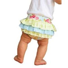 Fancy Ruffled Diaper Cover Pattern. $7.98 Complete instructions are included for both serger and regular sewing machine. Pattern includes easy step-by-step instructions.  Sizes 0-3 mths through 18-24 mths.