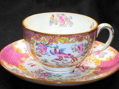 Minton Pink  Pheasant Bird Pink  Tea cup and saucer