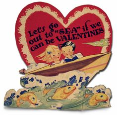 Make your own classic boat valentines day card! Hurry, the clock is ticking!