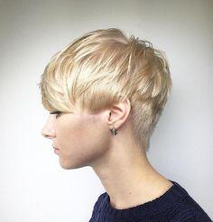 Blonde Textured Pixie Cut