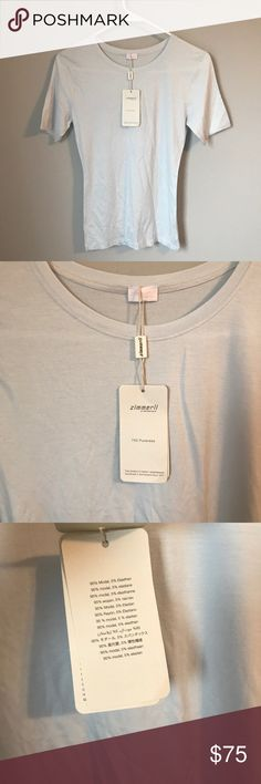 e7c0743cb2f5d0 NWT Zimmerli of Switzerland, size M 700 pureness NWT Zimmerli of  Switzerland, size M 700 pureness tee shirt, light blueish color, retails  for $125.