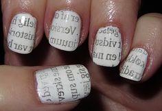 Newspaper nails – avis negle, tutorial – vejledning