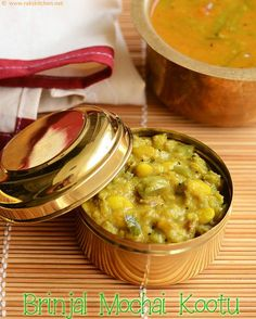 brinjal and beans curry with moong dal