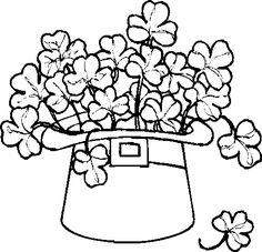 shamrock coloring pages coloring pages pinterest 15 coloring pages and patricks