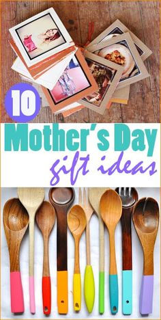 Easy Mothers Day Gift Ideas.  Creative DIY Mother's Day gifts.  Homemade gifts for grandma.