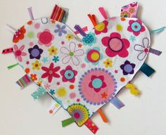 Heart Tag Blanket Flowers Sale by PamsBabyBakery on Etsy