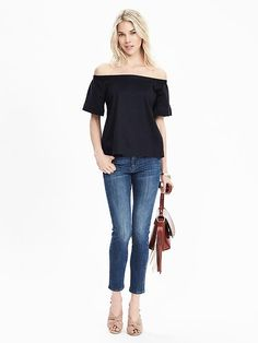 Absolutely love this top that I bought yesterday..  Bow-Back Off Shoulder Top
