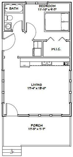 18x30 House -- #18X30H5F -- 540 sq ft - Excellent Floor Plans