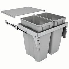 Stanto 60 Waste Bin for Base Unit 2 x Bins Kitchen Base Units, Waste Disposal, Laundry Hamper, Space Saving, Home Improvement, Interior Decorating, The Unit, Bathroom, Decoration