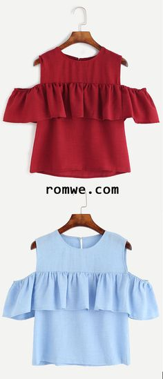 Open Shoulder Ruffle Top 55 Magical Looks To Copy Now – Open Shoulder Ruffle Top Source Diy Fashion, Fashion Outfits, Womens Fashion, Fashion Trends, Casual Outfits, Summer Outfits, Cute Outfits, Diy Clothes, Clothes For Women