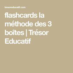 flashcards la méthode des 3 boîtes   Trésor Educatif