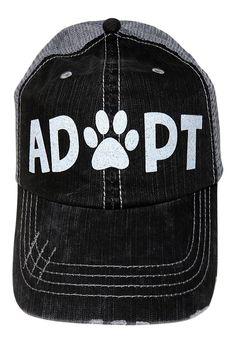 3fb0f65b25 White Glitter Adopt/Paw Print Mom Grey Trucker Baseball Cap Animal Dog Cat  - C117YQ2Q322