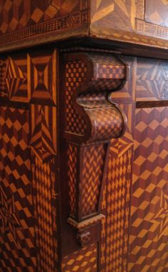 Folk Art Marquetry Side Board image 6