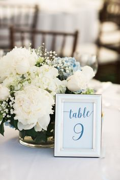 Framed calligraphy table numbers: http://www.stylemepretty.com/massachusetts-weddings/marblehead/2015/12/30/classic-marblehead-yacht-club-wedding/ | Photography: Rachel Red Photography - http://rachelredphotography.com/