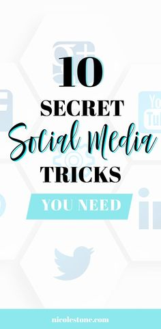 Ever saw a social media trick and didn't know how they did it? We have the answer. Learn these 10 social media secrets that will help your Instagram, Youtube, Facebook, and Pinterest results! Tips for every platform you don't want to miss. #youtube #instagram #facebook #pinterest #marketing #socialmedia #blogging #business