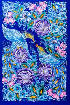 """Petrykivsky painting or """"Petrykivka"""" is a Ukrainian decorative and ornamental folk art, which was formed on Dneprovsky in the village of Petrykivka, hence the name of this art form. Some things ..."""