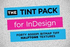 Check out Tint Pack for InDesign by Halftone.us on Creative Market