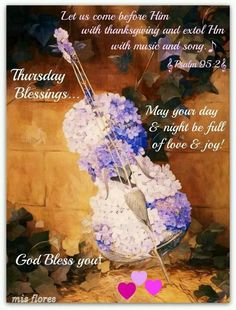 Happy Blessed Thursday everyone!