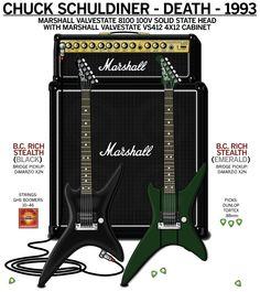 Chuck Schuldiner (Death) rig   Guitar Geek