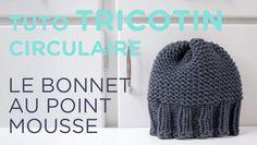 Tuto tricotin : le bonnet point mousse et bord côtes