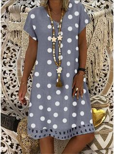 Buy Sundress Summer Dresses For Women at JustFashionNow. Online Shopping Justfashionnow Summer Dresses 1 Sundress Going Out Shift V Neck Floral-Print Short Sleeve Casual Dresses, The Best Daytime Summer Dresses. Discover Fashion Trends at justfashionnow. Polka Dot Summer Dresses, Summer Dresses For Women, Dress Summer, Mode Hippie, Robes Midi, Everyday Dresses, Mode Style, V Neck Dress, Dot Dress