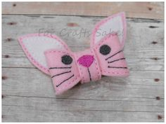 Love this Bunny Bow Felt Clippie! ....and I can make them in so many different colors!   This is a preordered item...just let me know the color you'd like and what side it's to be worn on, the left or right side...and I also have a non-slip option available.  My turn around time for these is ...