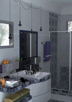 A Modern Moroccan Inspired Bathroom