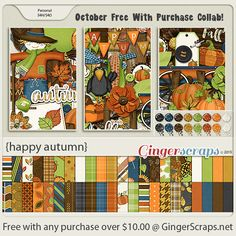 Free-With-Purchase at GingerScraps for the month of October! A beautiful collaboration from our GingerScraps Designers just right for the Season! It will be automatically added to your cart when you spend $10.00 or more in the GingerScraps Shop. Happy Autumn; http://store.gingerscraps.net/GingerBread-Ladies-Collab-Happy-Autumn.html. 10/09/2015