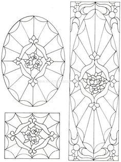 ::ARTESANATO VIRTUAL - Tecnicas de Artesanato | Dicas para Artesanato | Passo a Passo:: Faux Stained Glass, Stained Glass Designs, Stained Glass Projects, Stained Glass Patterns, Leaded Glass, Mosaic Patterns, Stained Glass Windows, Mosaic Glass, Pattern Art