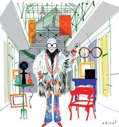 Pra exposição no Le Bon Marche, em Paris, Eric Giriat fez ilustrações da Iris em ícones da cidade