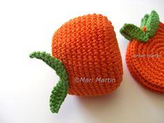 Crochet Napkin Holder Orange