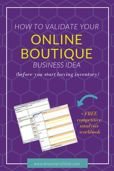 Got an idea for your online store, but not quite sure if you're on to a winner? My latest post on How To Validate Your Business Idea + FREE competitive analysis workbook - will set you straight. Business Ideas India, Business Inspiration, Business Tips, Boutique Camping, Competitive Analysis, E Commerce Business, Hosting Company, Affiliate Marketing, Internet Marketing
