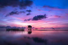 日の出, プーのコック, 島, 海, 水, 風景, 空, 旅行, 熱帯, 太陽, クラウド, 光, 夏, 波