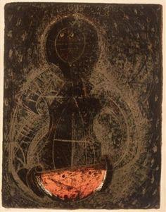 Mujer con Sandia (Woman with Watermelon) By Rufino Tamayo ,Circa 1960