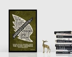 SuperNatural Inspired Quote Poster  11 x 17 by OutNerdMe on Etsy, $18.00