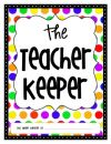 The Teacher Keeper {Organizational Binder with Bright Polka Dots} product from Tales-of-a-Teacherista on TeachersNotebook.com