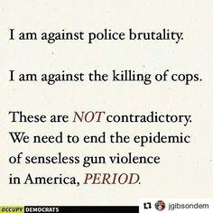 It is possible to condemn both police brutality and the killing of cops. #Dallas #BlackLivesMatter #AltonSterling #DallasProtestShooting #PrayForDallas #PhilandoCastile