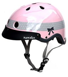 Sawako Women's Ribbon Pink Bicycle Helmet Sawako