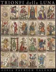 Patrick Valenza' s Trionfi della Luna major arcana deck. Love the high priestess.