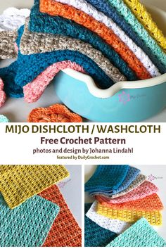 Easy Crocheted Dishcloth Free Pattern For Everyday UseYou can find Crochet dishcloths and more on our website.Easy Crocheted Dishcloth Free Pattern For Everyday Use Crochet Geek, Knit Or Crochet, Crochet Gifts, Free Crochet, Hooked On Crochet, Crochet Humor, Crochet Mandala, Double Crochet, Easy Knitting Projects