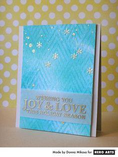 Hero Arts Cardmaking Idea: Joy & Love