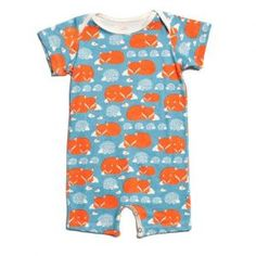 Winter Water Factory Foxes & Hedgehogs Summer Romper