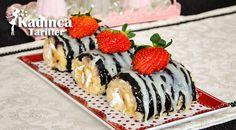 Muzlu Çikolatalı Mini Rulo Pasta Tarifi Sushi, Pudding, Ethnic Recipes, Desserts, Food, Tailgate Desserts, Deserts, Custard Pudding, Essen
